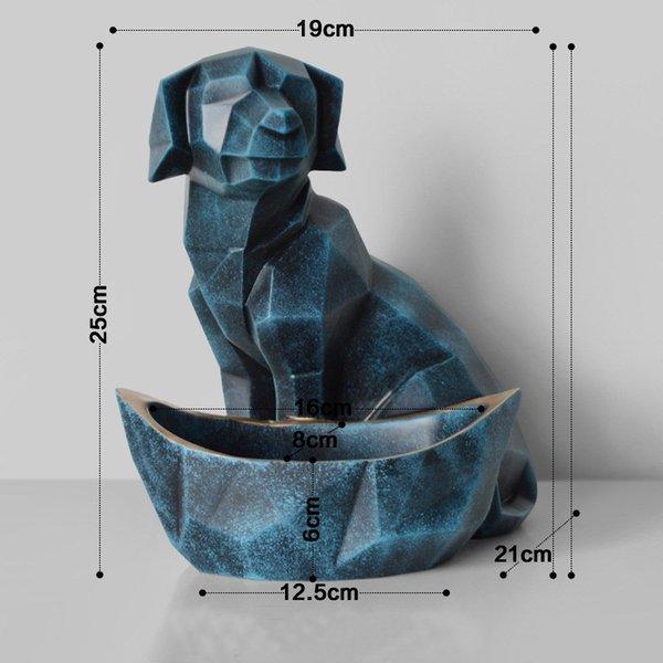 perro azul retro
