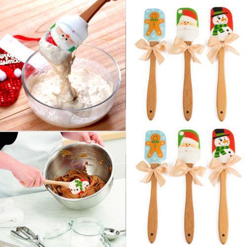 Bolo de Faca de Natal creme de manteiga Espátula Mixer Kitchen Batter raspador Bakeware nova ferramenta