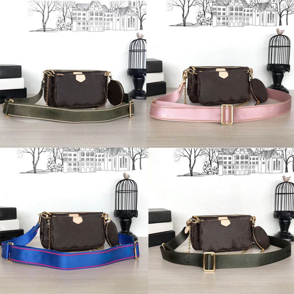 top popular Brand bags MULTI POCHETTE ACCESSOIRES 2019 new Fashion Women's Small Shoulder Bag brand Chain Crossbody bag designer luxury handbags purses 2021