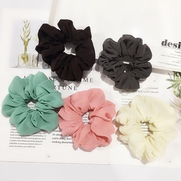Rosa Bianco Fiore Capelli scrunchie elastico Bobble Donna Ragazze