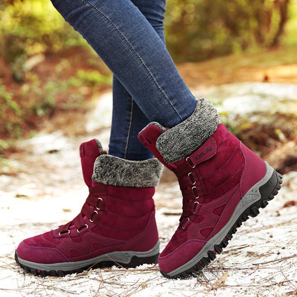 mode bottes femme hiver 2019 zapatos de mujer antidérapantes bottines d'hiver para mulheres inverno neige femmes chaudes