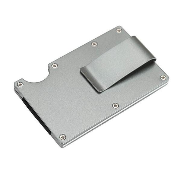 2019 Metal Mini Dinheiro Clipe Marca de Moda de Prata Branco Ouro Titular Id Cartão de Crédito Com Anti-chefe Carteira Dos Homens