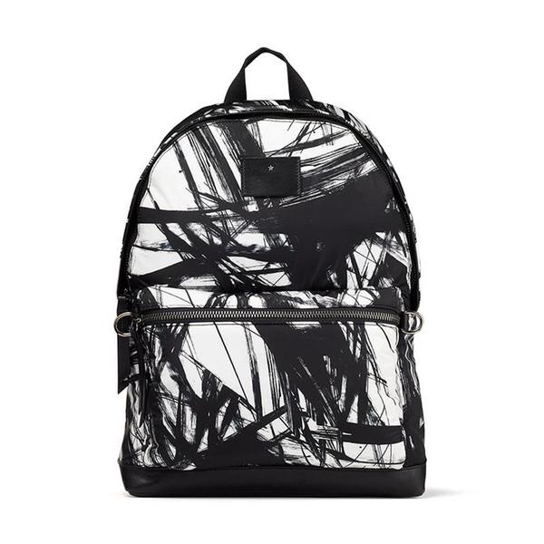 sport marée blanche abstraite de nylon imprimé créateur de mode classique J de luxe C sac à dos grande capacité garçons filles tendance Voyage étudiant ba3d4b #