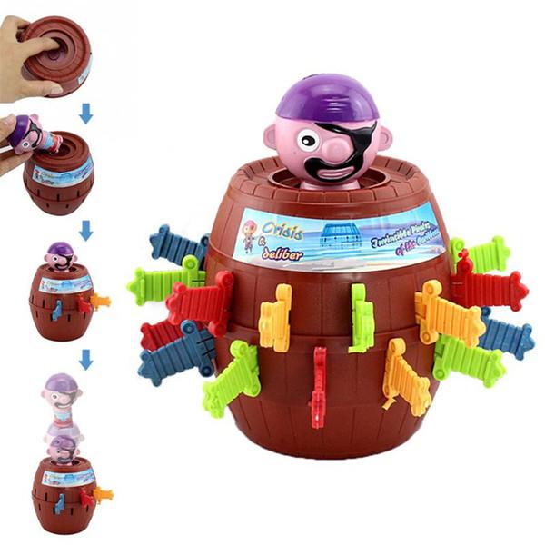 2019 neue Kinder Funny Gadget Pirate Barrel Spiel Spielzeug für Kinder Lucky Stab Pop Up Toy