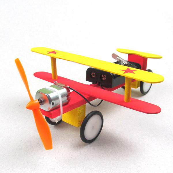 best selling Science popularization model of handmade materials for DIY children's science experiment toy electric taxiing machine kit
