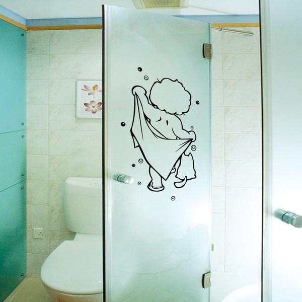 Großhandel Dusche Glastür Aufkleber Kinder Baden Wandaufkleber Nette  Wasserdichte Abnehmbare Für Baby Badezimmer Dekor Aufkleber Wandkunst  Aufkleber ...