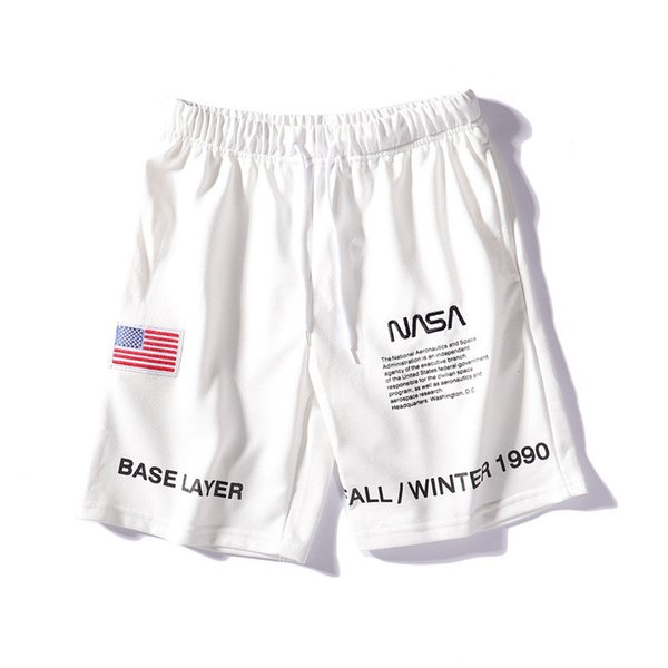 NASA Designer Shorts for Men 2019 Fashion Summer Beach Shorts Tide Brand Leisure Short Pants Mens New Casual Shorts Streetwear.