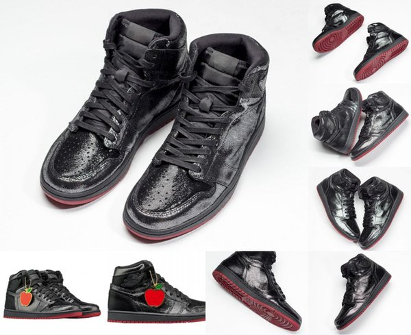 Newest Air Authentic 1 High OG SP Gina Black White Varsity Red Men Basketball Shoes Best Mans Retro Sports Sneakers CD7071-001 With Box