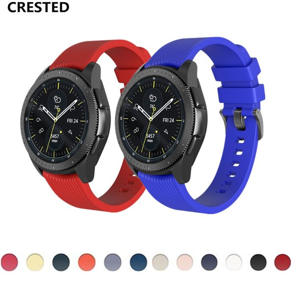 CRESTED Gear S3 Frontier strap For Samsung Galaxy Watch 46mm 42mm band S 3 classic S2 20mm 22mm Sport Bracelet smartwatch correa