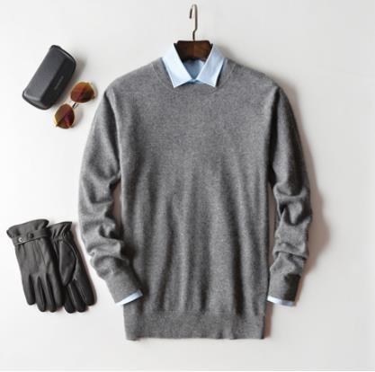Dark gray o-neck-XL