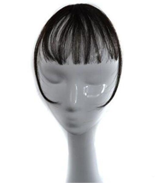 Sara Frau Mädchen Clip In Shuangbin Haar Bang 100% Echthaar Clip In Fransen Vorne Bang Extension Clip in Haarteil 3 * 14CM