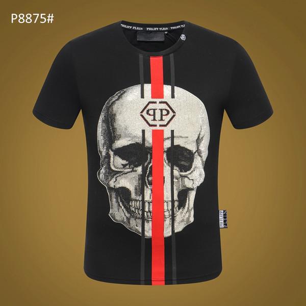 Nouveau Haute Qualité Designer Marque Mens designer t-shirts Crânes Chaud DrillingT Shirt Vêtements Pour Hommes À Manches Courtes Tshirt Femmes Tops M-3XL