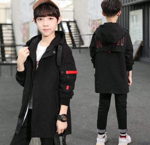 New Chinese and big children's Korean spring and autumn children's style windbreaker fashion boy's spring and autumn coat