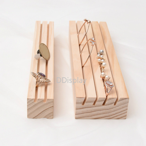 [DDisplay]Special Solid Wood Earring Jewelry Display Creative Rings Slot Holder Stand Window Showcase Fantasy Bracelet Grooves Organizer