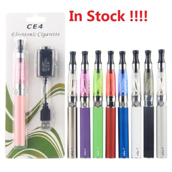 CE4 Ego starter kit CE4 atomizer Electronic cigarette e cig kit 650mah 900mah 1100mah EGO-T battery blister case Clearomizer E-cigarette