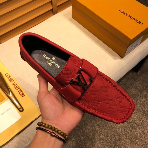 19SS 2019 Chaussures Hommes luxe Marques Moccasin Casual Cuir Chaussures Homme Conduite Oxfords Mocassins Mocassins Chaussures italiennes pour la taille Hommes 38-45