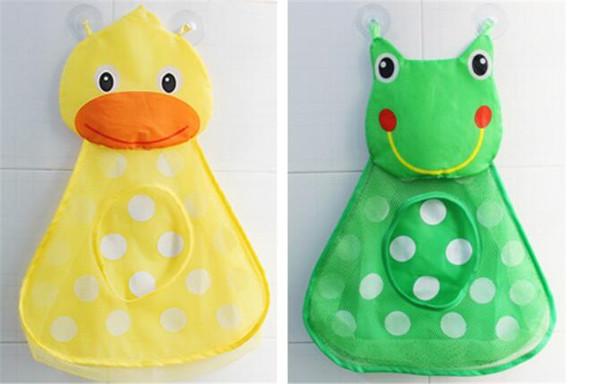 Little Duck Little Frog Shape Aufbewahrungstasche Baby Shower Bath Toys Aufbewahrungstasche mit starken Saugnäpfen Net Bag Organizer