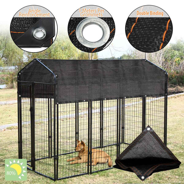 Dog Kennel House Cover Dustproof 80% Sunblock Shade Waterproof Dog Cage Cover Foldable Washable Outdoor Pet Kennel Crate Cover