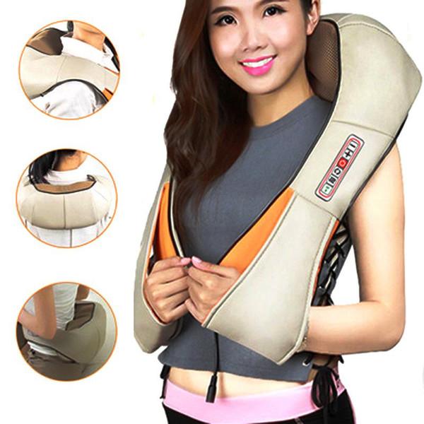 Masseur de corps d'épaule de cou de coude d'épaule électrique de forme automatique à la maison infrarouge chauffée de pétrissage de voiture Massage cervical infrarouge à double usage à la maison