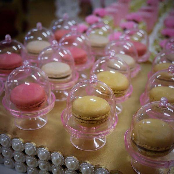 5 Colors-20pcs/lot Transparent Plastic Candy Wedding Favor Boxes Supplies Baby Shower Favors Birthday Party Decorations Q190524