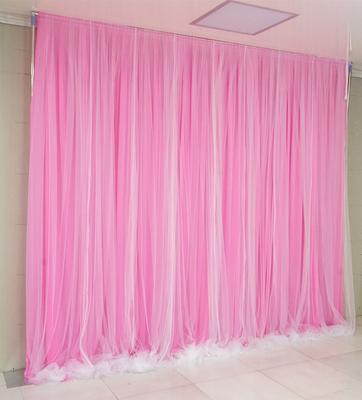 Tela rosa + hilo blanco puro