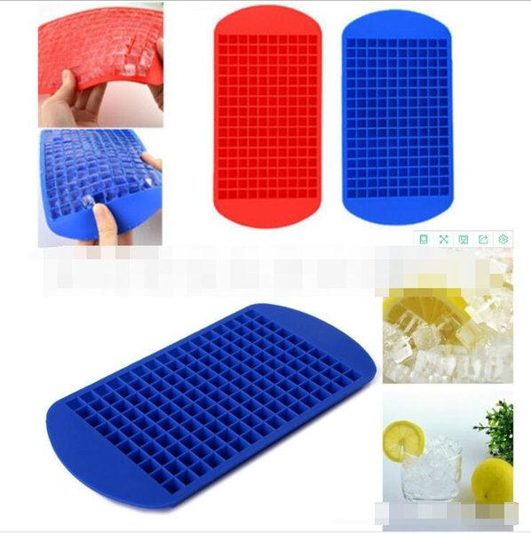 160 Grids Ice Cubes Maker Mini Silicone Ice Cube Molds Mould Tray Pudding Tool Kitchen Accessories 6 Colors Choose 24*12cm