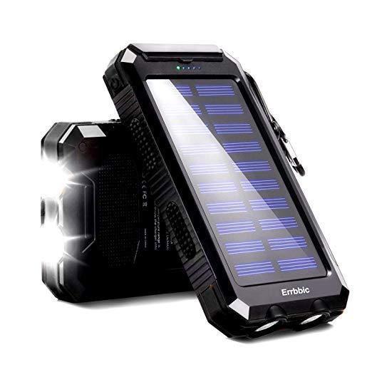 20000mAh Solar Power Bank Waterproof Portable Backup Powerbank Mobile Phone Charger External Battery Pack for Xiaomi iPhone MI