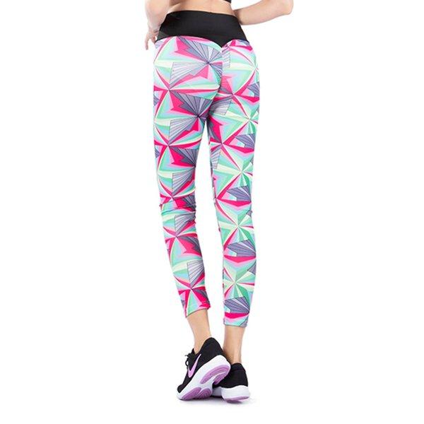 2019 Nova-secagem Rápida Leggings Gótico Moda Geométrica Impressão Tornozelo-Comprimento Leggings de Fitness Respirável