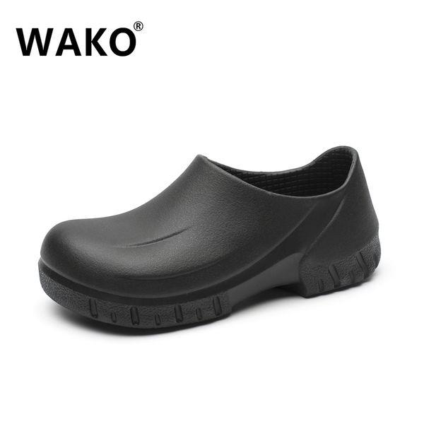 nuevo concepto 3626d 4ab7f Compre Venta Al Por Mayor 9033 Hombre Chef Zapatos Cocina Cocinar Zapatos  Zuecos Negros Trabajando Zapatos De Hospital Super Antideslizante Sandalias  ...