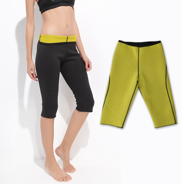 2019 Women Weight Loss Pants Neoprene Exercise Leggings Sauna Suit Body Shaper Hot Sweat Thermo Slimming Capri Workout Capris 262271 From