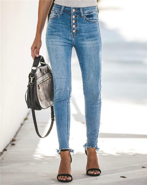 New Women's Juniors Klassisch geschnittene Denim-Hose High Rise Unwiderstehliches Jegging-Pull-On-Stretch-Skinny-Jeans Riss-Flare-Jeans