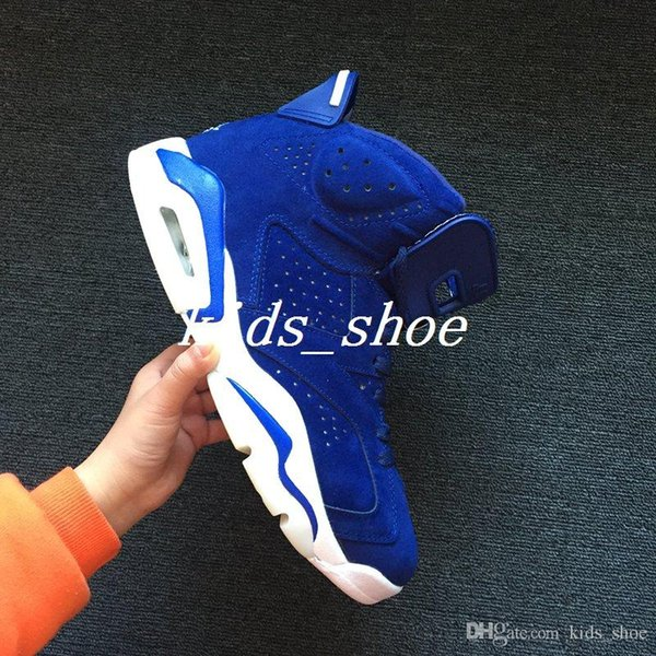 separation shoes 1f8d2 a9f6a 6 Royal Blue Suede Basketball Shoes Mens Retro 6s Shoes Sport Shoes  Skechers Shoes From Kids_shoe, $98.48| DHgate.Com
