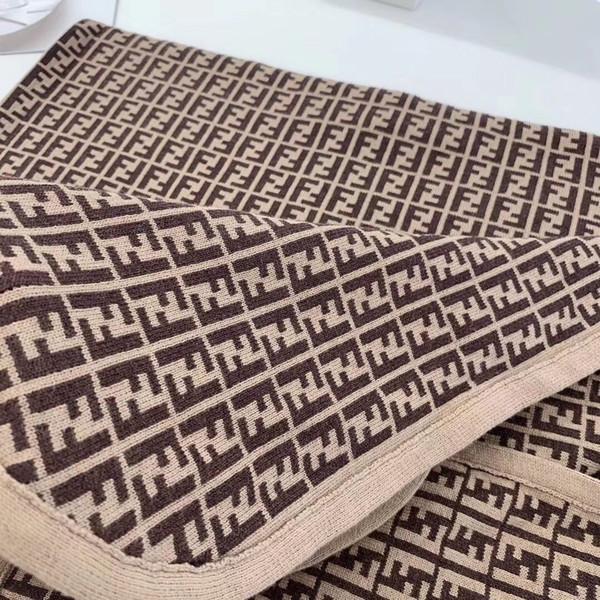 Luxury designer brand FD classic soft comfortable cotton knit children bedding blanket indoor and outdoor warm shawl 100*100cm Christmasgift