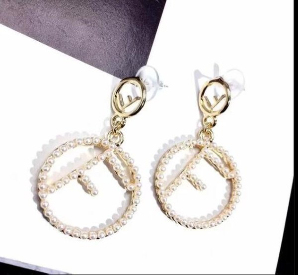 2019 frauen Schmuck Mode Ohrringe Buchstaben 18 Karat Versilbert Sterling Silber frauen Ohrringe E07462