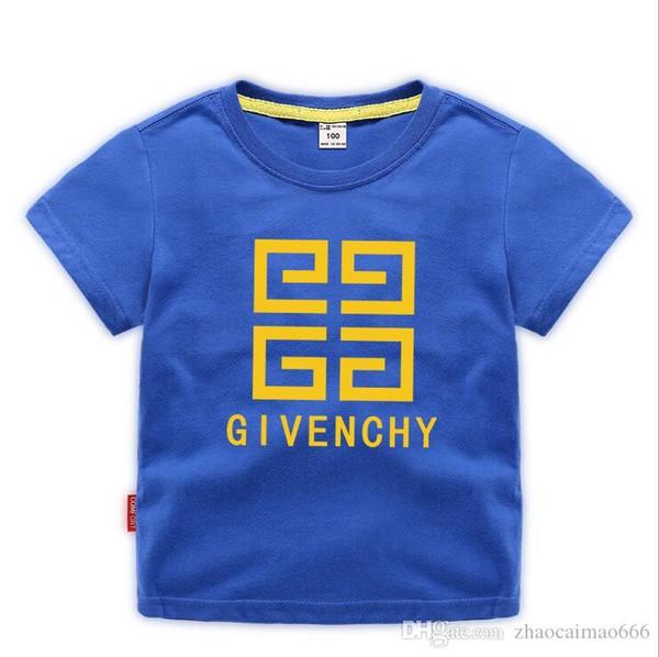 2019 Moda Yaz Erkek kız Giyim Çocuk Tasarımcı Kısa Kollu T-shirt Çocuk Baskı Kedi Gömlek Tops Boy Tees 2-8 T Yıl