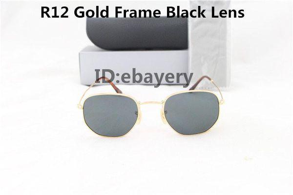 Men or Women CLASSIC VINTAGE RETRO DESIGNER Style SUN GLASSES Black /& Gold Frame