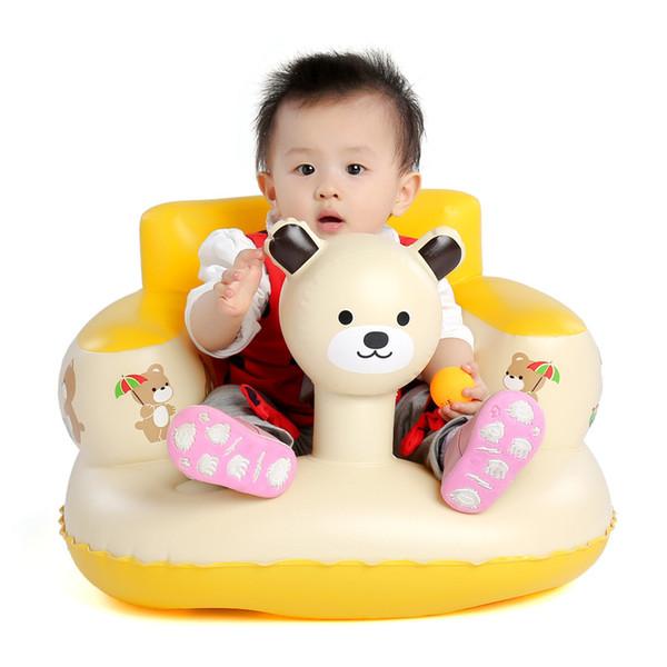 [TOP] Ours gonflable Chaise bébé Baignoire Chambre tabourets pour enfants Seat enfants portable alimentation Apprenez à l'eau Sit Play Jeux Bath Sofa