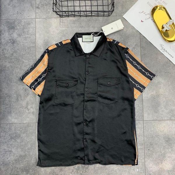 19ss Nova Chegada GUCHI Paris Amantes de Algodão Camisetas manga curta de Verão guchi Respirável Colete Camisa Streetwear T-shirt Ao Ar Livre