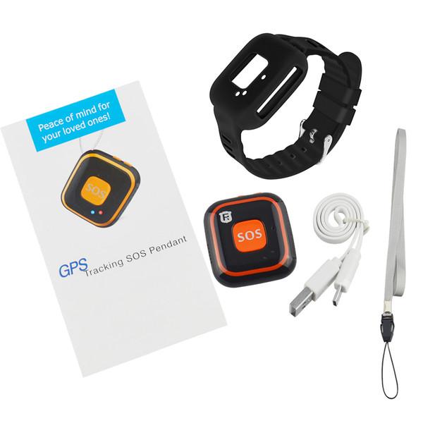 GPS Tracker RF-V28 pour les enfants GPS suivi Pendentif SOS Bouton Mini Personal Tracker Localisateur d'enfants avec Google Map Track