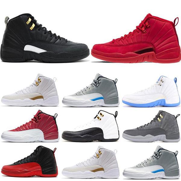 12s chaussures de basket-ball pour hommes Gymnases rouges jeu de grippe OVO BORDEAUX taxi le maître gris foncé Drake 12 baskets de sport pour hommes