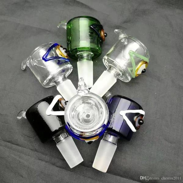 Cabeza de burbuja de ojo de color torcido, Bongs al por mayor Tubos de quemador de aceite Tubos de agua Tubo de vidrio Plataformas de aceite Fumar Envío gratis