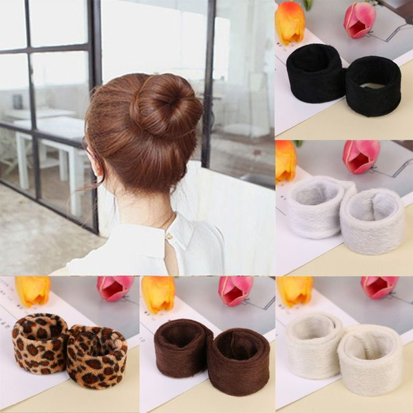 1 pc Synthetic Wig Donut Headband Women Hair Accessories Girl Magic Hair Bun Maker Band French Dish Twist Hairstyle Tool