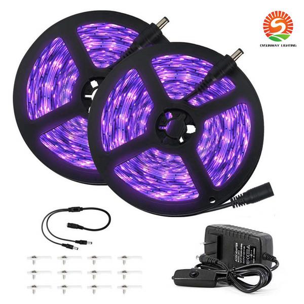 33ft UV Black Light Strip 12V flessibile Blacklight con lampada Uv da 600 unità Perline 10M LED Luce nera Nastro Luce decorativa