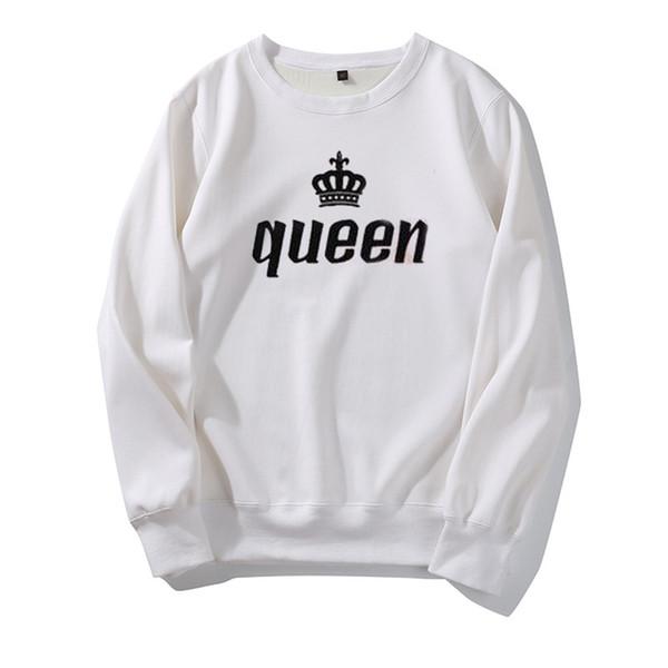 Diseñador Hoodies King Queen Carta Hombres Sudaderas Con Capucha Diseño para Pareja Tops Moda Primavera Otoño Invierno Sudadera Casual de Alta Calidad