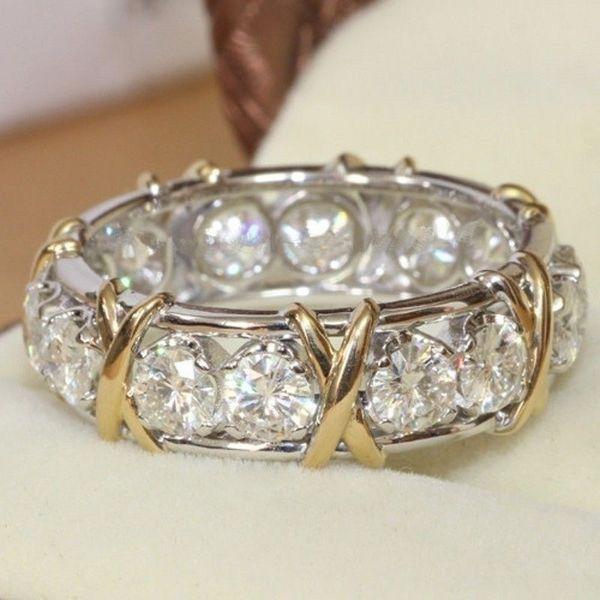 Moda feminina 925 Prata Esterlina Sólida Natural Sapphire Gemstone Empilhável Banda Anel de Jóias de Casamento Tamanho 5-12