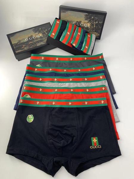 Newst Brief Luxus Designer Herren Unterwäsche Boxer für Mann Unterwäsche Cueca Boxer Ropa Interior Hombre Vintage Homosexuell Boxer Shorts