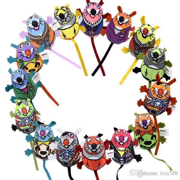 Nova venda de alta qualidade brinquedos de pelúcia Gato Colorido Forma de rato Brinquedo Engraçado Soando pet brinquedos Suprimentos T3I0068