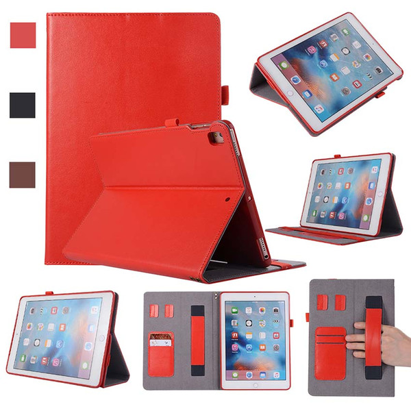 Classic REAL Genuine Leather Tablet case for iPad 5 6 AIR with stand shockproof Leather Tablet case