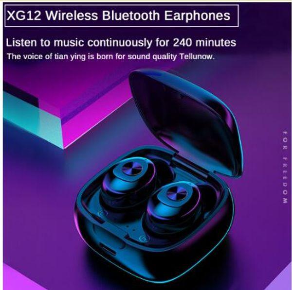 Ucuz TWS Bluetooth 5.0 Kulaklık Stereo Kablosuz Earbus HIFI Ses Spor Kulaklık için Mic ile Handsfree Oyun Kulaklığı Telefon