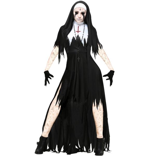 S-xl American Halloween nun costume cosplay role play vampire devil costume